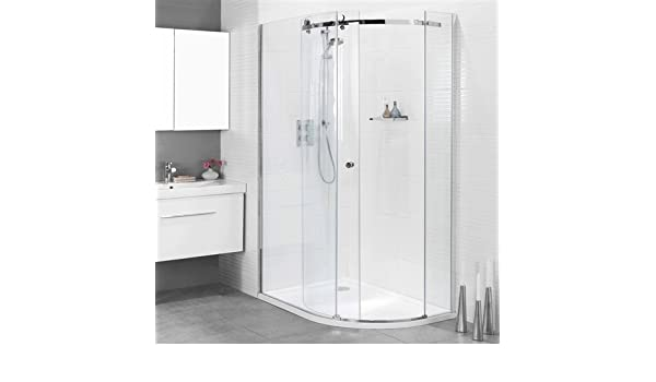 Mampara de ducha deslizante Karla 1000 x 800 mm o recinto: Amazon ...