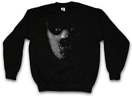 HANNIBAL MASK SWEATSHIRT PULLOVER PULLI ?Schweigen Face Red The Roter Maske Leder Silence der Lecter Dragon of the Drache L?mer Lambs Größen S – 3XL