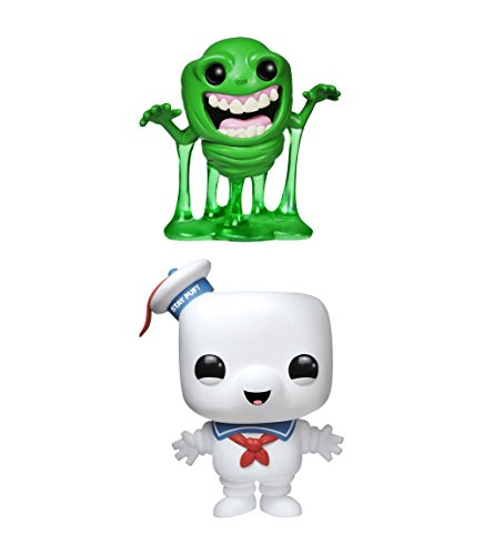 """Funko Ghostbusters POP! Movies Vinyl Collectors Set: Slimer & 6"""" Stay Puft Man Action Figure"""