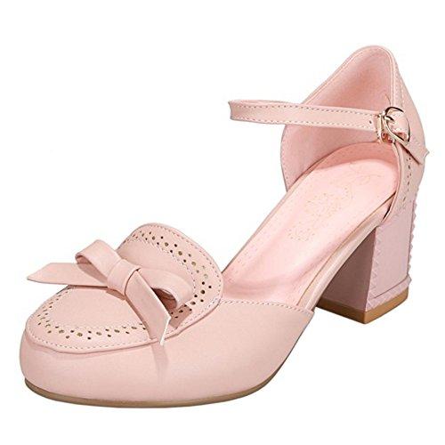 Femmes Sandales Cheville Coolcept Bride Pink wXqgxdt