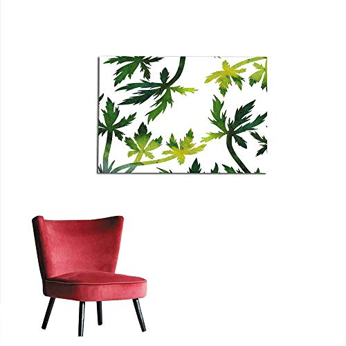 homehot Photographic Wallpaper Floral Composition Plants and Leaves Mural 32