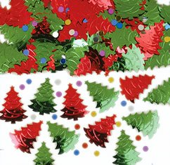 Christmas Tree Embossed Metallic Mix 14g