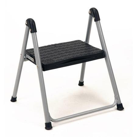 Cosco 1-Step Folding Step Stool without Handle, Large Platform Step with Slip-Resistant Feet by Cosco
