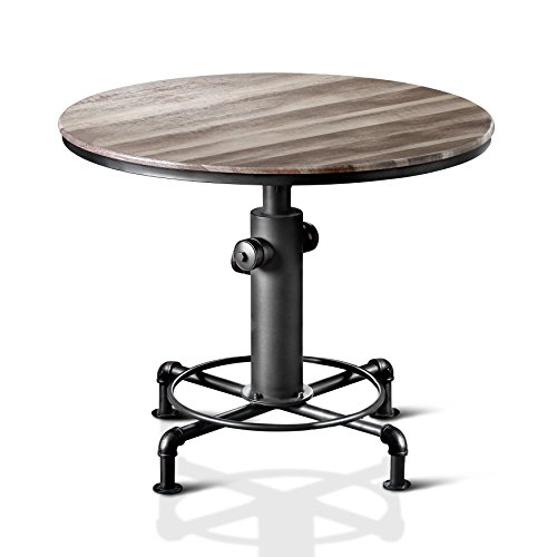 HOMES: Inside + Out IDF-3367PT Grant Counter-Height Table Antique Black