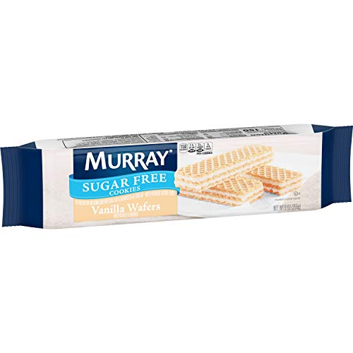 Murray Sugar Free Cookies, Vanilla Wafers, 9 oz Sleeve(Pack of 12) -