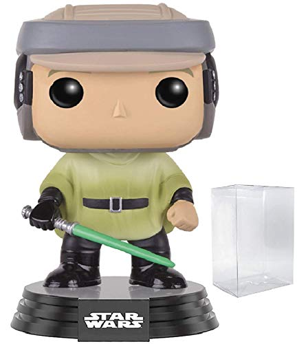 Star Wars: Return of The Jedi - Endor Luke Skywalker Funko Pop! Vinyl Bobble-Head Figure (Includes Compatible Pop Box Protector Case)