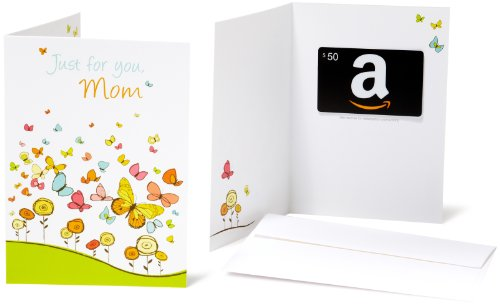 Amazon.com $50 Gift Card in a Greeting Card (For Mom Design) (Amazon Mom Card Gift)