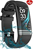 SMAATE Fitness Tracker with Heart Rate Monitor for Men for Women, Activity Tracker Watch with Pedometers for Steps and Miles for Walking, Waterproof Smart Bracelet with Sleep Monitor