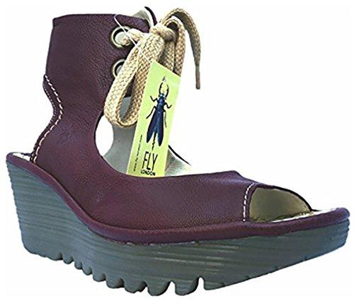 Fly London Yaffa Magenta Spets-up Sandal, Storlek 39 Eu