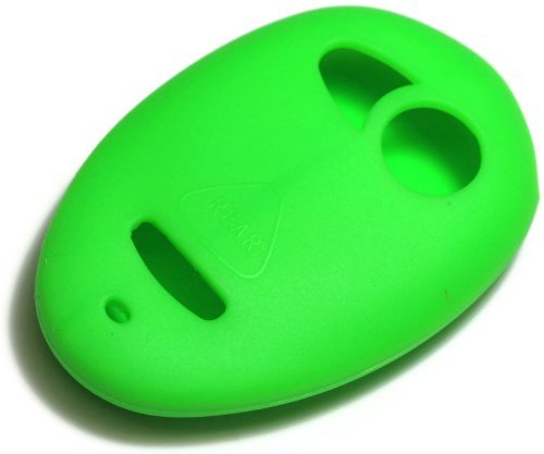 Grand Prix Soft Shell (Green Silicone Key Fob Cover Case Smart Remote Pouches Protection Key Chain Fits: Pontiac Grand Prix)