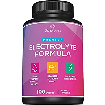 Premium Electrolyte Capsules - Support for Keto, Low Carb, Rehydration & Recovery - Electrolyte Replacement Capsules - Includes Electrolyte Salts, Magnesium, Sodium, Potassium - 100 Capsules