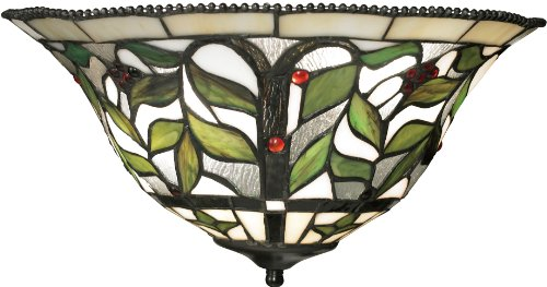 Tiffany Sconce Brass - Elk 70098-2 16 by 8-Inch Latham 2-Light Wall Sconce with Clear Water Glass Shade, Tiffany Bronze Finish