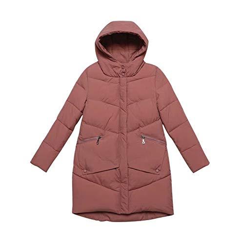 colore Autunno Dritto Dimensione Abito L Piumino In Caldo E Cappuccio Nero Rosso Con Inverno Cappotto Lungo Cotone xYRAqfw7x