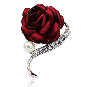 NSHUN Nice Artificial Flower Wedding Corsage Buttonhole Boutonniere Roses - Red Rose 115
