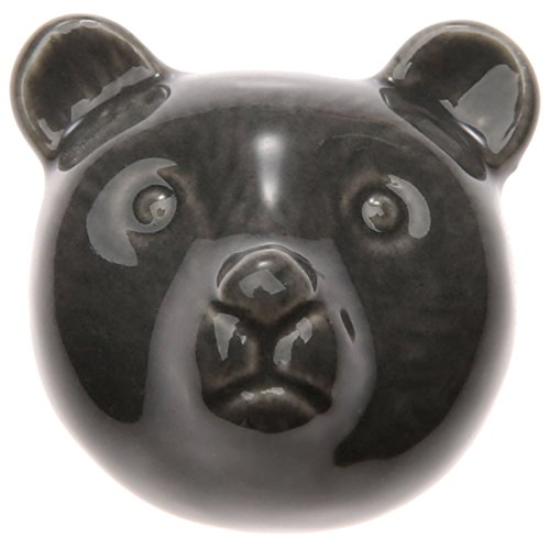 mic Bear Pattern Novelty Drawer Door Pull Handle Chest Cabinet Dresser Knobs - Gray (Bear Drawer Knob)