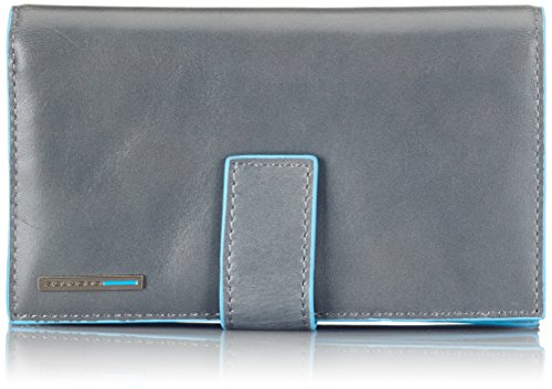Piquadro Wallet Woman Blue Square PD1353 by Piquadro