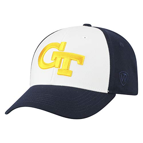 (Top of the World NCAA-Premium Collection Two Tone-One-Fit-Memory Fit-Hat Cap- Georgia Tech Yellow Jackets)