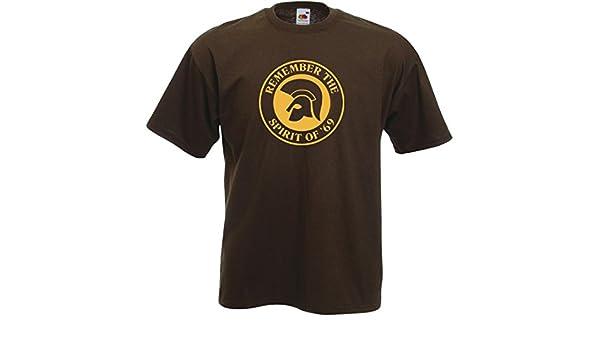LIVE FAST - Camiseta - Cuello Redondo - para Hombre Chocolate M ...