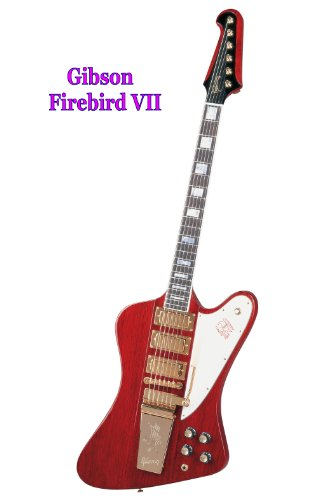2 Gibson Guitar Posters - Firebird VII and Les Paul - each Heavy Gloss-