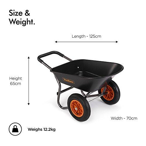 VonHaus-Brouette-78-l–2-roues-Accessoire-de-jardinage-robuste-Transport-de-tous-types-de-matriaux–Capacit-de-100-kg