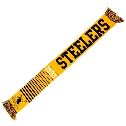 (2013 NFL Football Team Logo Retro Throwback Scarf (Pittsburgh Steelers))
