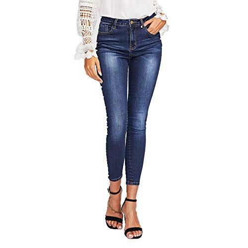 M Pantalon Skinny femme Size Blue pour Beaded Blue Jeans NEW Color slim anpFvqwy