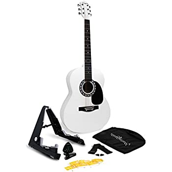 martin smith 6 acoustic guitar superkit with stand tuner gig bag strap picks and. Black Bedroom Furniture Sets. Home Design Ideas