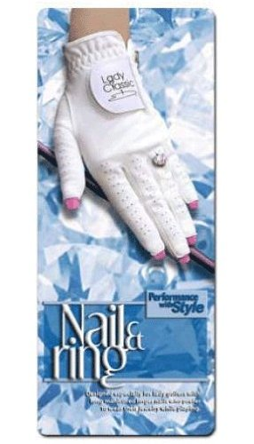 Lady Classic Women's Nail and Ring Golf Glove - Size Medium