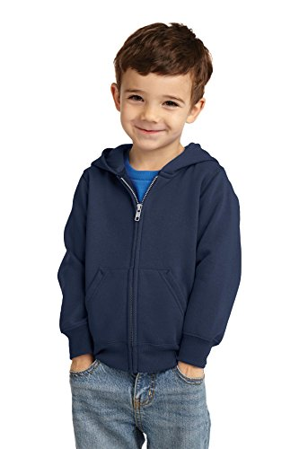 Sweater Blue Hooded (Precious Cargo unisex-baby Full Zip Hooded Sweatshirt 3T Navy)