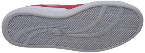 PUMA Smash L, Zapatillas, Unisex Adulto Blanco (09 White/High Risk Red)