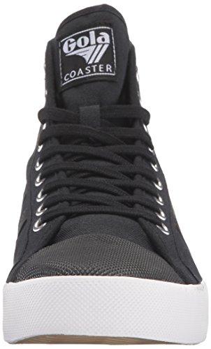 Gola Hombres Coaster High Fashion Sneaker Negro / Negro / Blanco