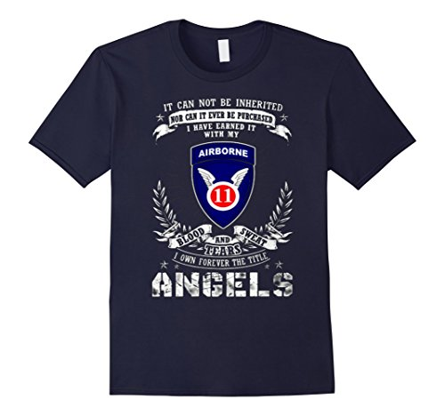 Mens Forever The Title 11th Airborne Division - Angels Tshirt 2XL ()