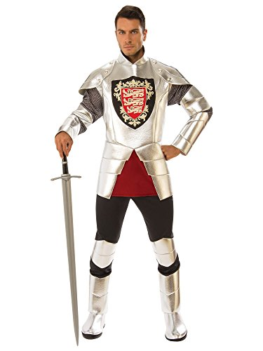 Renaissance Knight Costume (Rubie's Men's Silver Knight Costume, as Shown,)