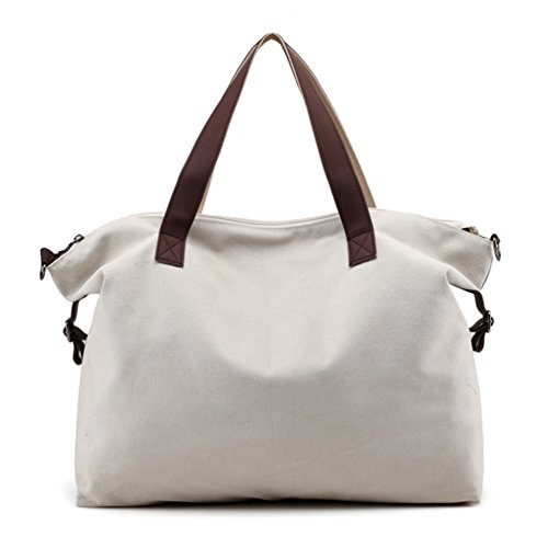 (Sanxiner Top Handle Handbag Tote Bag Canvas Crossbody Bags for Women (Beige))