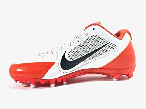 Nike Alpha Pro TD Football Cleats (12, WHITE/BLACK/TEAM ORANGE)