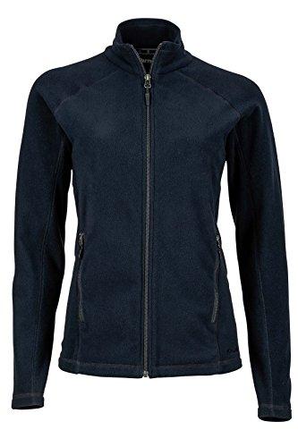 Marmot Women's Rocklin Full-Zip Jacket, Lightweight 100-Weight Fleece, Jet Black, Large