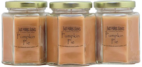 3 Pack - Pumpkin Pie Scented Blended Soy Candle | Hand Poured Fall Fragrance Candles | Made in The USA by Just Makes Scents