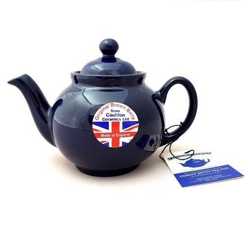 Hand made Original 2 Cup Brown Betty Teapot in Cobalt Blue (Cobalt betty)