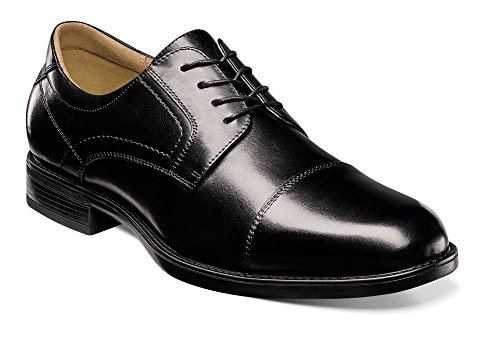 Leather Cap Men's Smooth Toe Midtown up Florsheim Lace Black Oxfords qzEU1xHwzn