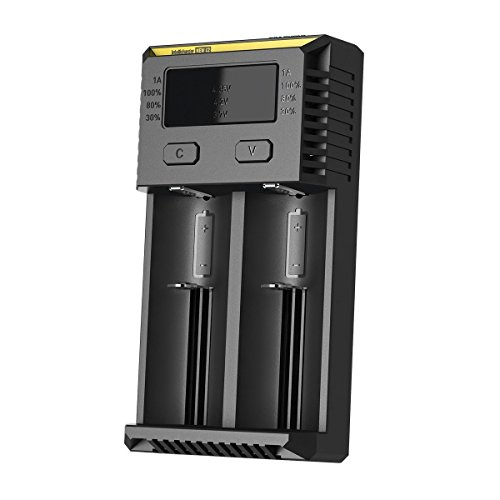 Nitecore i2 2016 Intellicharger Smart Battery Charger for Li-ion IMR Ni-MH NiCd (Light I2)