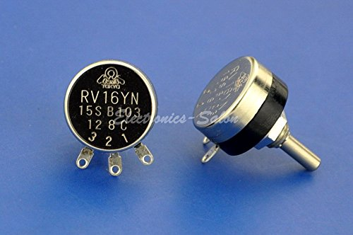 Electronics-Salon RV16YN 15S B103 10K OHM 0.1W Carbon Potentiometer.