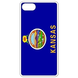 Kansas KS State Flag White Apple Iphone 4 - Iphone 4s Cell Phone Case - Cover