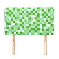 Pixels Print Children's Upholstered Foam Headboard for Single Bed, Available in 4 Colours