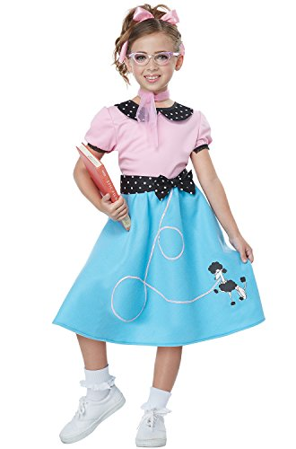 50'S Sock Hop Dress Girls Costume Pink/Blue]()