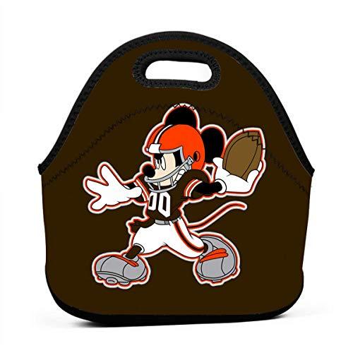 (Dalean Cleveland Browns Cartoon Neoprene Lunch Bag, Bento Bag, Food Container, School Work Office)