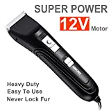 AIBORS Dog Clippers Shaver Clipper Low Noise High Power for Thick Heavy Coats Plug-in Pet Trimmer Pet Professional Grooming Hair Clippers with Guard Combs Brush for Dogs Cats and Other Animals