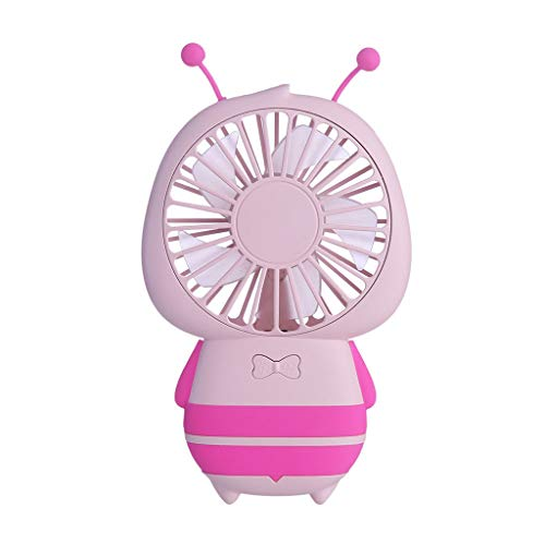 Small Desk Fan, Rechargeable Battery Operated Mini Table Fan with 3 Speeds, Portable Quiet USB Cooling Fan for Home, Office, Travel and Camping