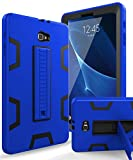 Samsung Galaxy Tab A 10.1 Case,XIQI Three Layer Hybrid Rugged Heavy Duty Shockproof Anti-Slip Case Full Body Protection Cover for Tab A 10 inch(SM-T580),Blue Black