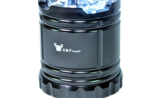 G & F 2 Pack of Water Resistant Portable Ultra Bright LED Lantern Flashlight for Hiking, Camping, Blackouts.