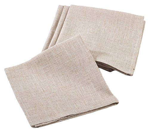Fennco Styles Linen Blend Natural Napkin Set - 20-inch by 20-inch - 4 Pack by fenncostyles.com (Image #2)